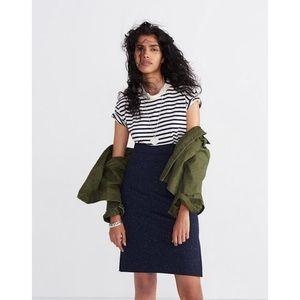 Madewell column side slit skirt